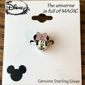 Disney Minnie Mouse Sterling Silver Charm/Slide